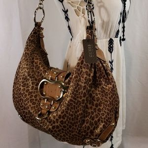 GUESS Animal Print And Ostrich Leather Straps